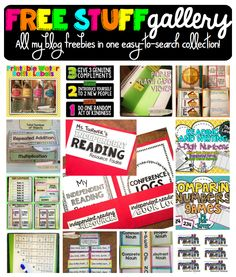 "Freebies as far as the mouse can scroll! Check out the ""Free Stuff Gallery"" at One Lesson at a Time for tons of printable goodies to use in your classroom."