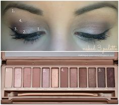 Urban Decay naked3 palette tutorial, for those of you who are afraid of pink shadows.