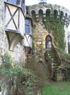 A view of the Medieval castle in Kent, England, a romantic ruin.