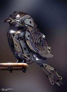 steam punk bird