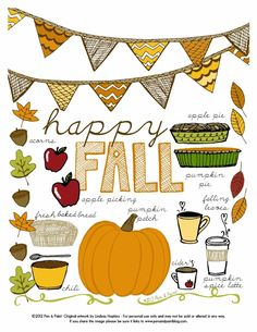 Happy Fall Printable #fall #printable #free #pumpkin
