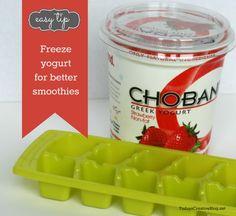 Frozen Yogurt Cubes- Freezing Yogurt for Smoothies