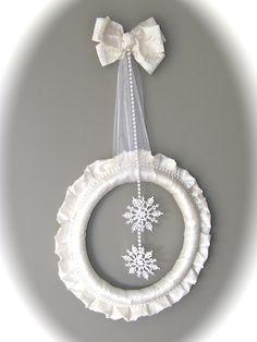 12 Days of Door Decor Day #6- White Winter Wreath | FYNES DESIGNS