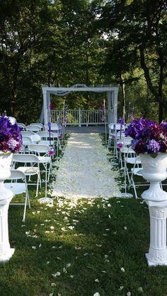 A romantic garden wedding ceremony location at Engedi Estate! {Engedi Estate}
