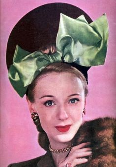 A stellar hat from the pages of McCall's, October 1945. #vintage #hats #fashion #1940s