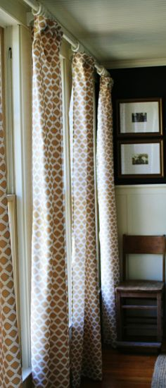 Good tutorial on making curtains from sheets, custom rod, attachments, etc.  Looks like great blog.
