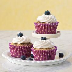 Lemon Blueberry Swirl Cupcakes, Gluten Free