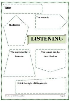 Listening Worksheet 2