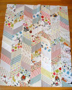Low volume inspirationWhite Herringbone quilt by katedeerie, via Flickr