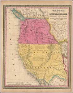 Oregon Upper California Antique Map Mitchell 1847. This one of a kind original antique map of Oregon and Upper California comes from S.A. Mitchell's Universal Atlas of 1847. This is the second edition of Mitchell's famous Universal Atlas the first being published in 1846. Mitchell had acquired the rights to the Universal Atlas in 1845 from H. Tanner who first published it in 1836. This authentic antique map of Oregon and Upper California was Published at Philadelphia in 1847.