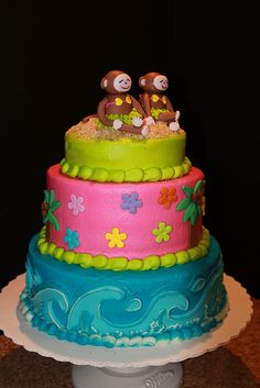 monkey luau cake...If we go with the monkey plates???