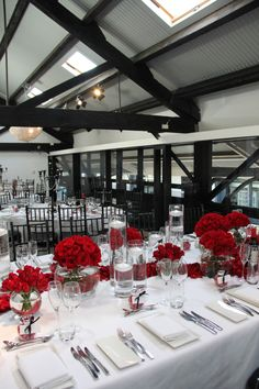 Modern Romance with classic red roses - Doltone House Loft