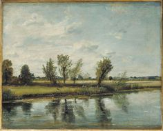 Water-meadows near Salisbury, John Constable, 1820 or 1829