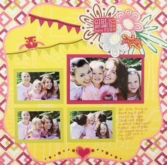 Girls Just Want to Have Fun Be Young Addition #Scrapbook Layout Project Idea from Creative Memories  http://www.creativememories.com