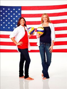 Model Olympians: Misty May & Kerri Walsh - Beach Volleyball Slideshows | U.S. beach volleyball stars Misty May-Treanor and Kerri Walsh Jennings away from the court.  (Photo: NBCOlympics.com) #NBCOlympics
