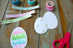 Washi Tape Easter Crafts (with free printable)
