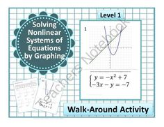 Walk Around Activity~Solving Nonlinear Systems of Equations~Linear~Quadratic from CarynLovesMath on TeachersNotebook.com -  (27 pages)  - Walk Around Activity~Solving Nonlinear Systems of Equations~Linear~Quadratic