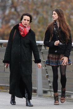 Andie MacDowell and her look-alike daughter spotted in Paris