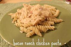 bacon ranch, pasta lover, chicken bacon, ranch pasta, food, ranch chicken, chicken pasta, recip, pastas