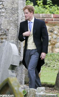 Prince Harry, all suited up for a wedding!