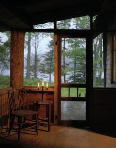 Cabin Dreams Not Cabin Fever; beautiful rustic porch; love the simplicity of it.....