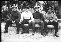 Four boxers sitting on a bench in the city of Cannes, 1912. French National Library (Public Domain) http://www.europeana.eu/portal/record/9200103/360A7A7FD2614A809AC2193C34274284E4C95543.html