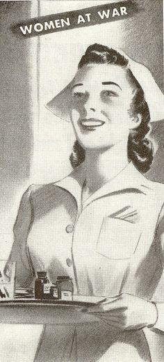 Women at War! (1942) #vintage #nurse #WW2 #1940s