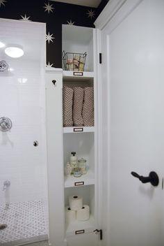 Rambling Renovators | bathroom storage