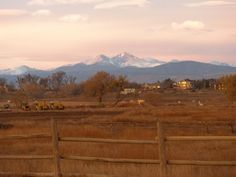 Mt Meeker and Longs Peak view from Fort Collins