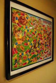 Framed game for toy room.