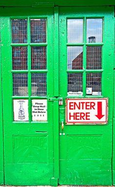 the doors, green doors, door colors, door signs, vibrant colors, front doors, green life, colorful doors, bright colours