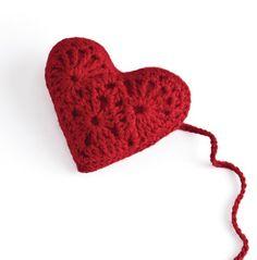 Free Crochet Heart Sachet Pattern #crochet #pattern #heart