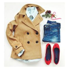 GAP camel pea coat