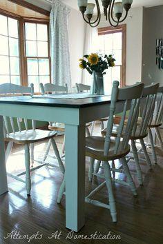 DIY:: Beautiful !! Budget Farmhouse Table ! Full Tutorial