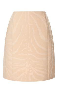 Shop Zebra-Print Wool-Blend Mini Skirt by Carven Now Available on Moda Operandi