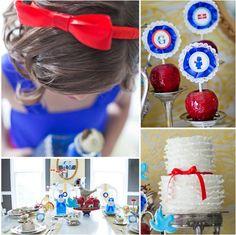 candi, ruffle cake, candy apples, white birthday, kid birthdays, birthday party themes, parti idea, kid birthday parties, snow white