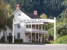Wolf Creek Tavern, Wolf Creek, OR; a former stagecoach stop on the Applegate Trail.