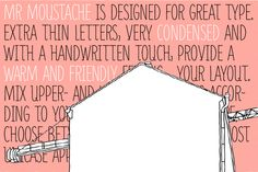 Mr Moustache by FaceType - Desktop Font, WebFont and Mobile Font available at YouWorkForThem.