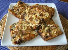 These Seven-Layer Bars are addictive. I can't stop eating them and they are great for an after school snack for children or to go in the lunchbox. 1 1/2 sticks butter or margarine or 12 tablespoon...