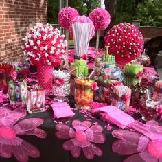Candy Bar for Sweet 16 birthday party