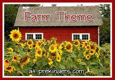 farm theme at prekinders