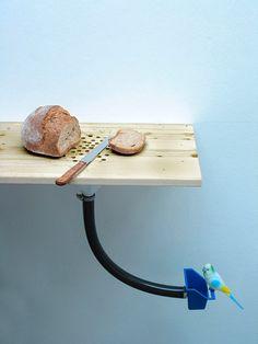 DIY Cutting Board Bird Feeder