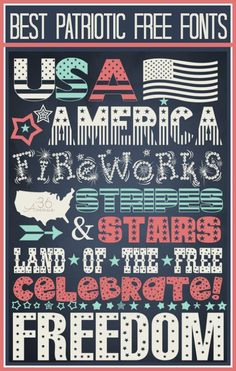 Best Patriotic Free Fonts  ~~  {10 free fonts with easy links to their downloads at the36thavenue.com}