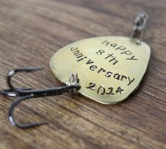Anniversary Fishing Lure, Personalized Anniversary Gift, Anniversary Gift for Him, Happy Anniversary, Engraved For Him, Husband Gift