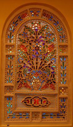 stained glass window, Cappadocia, Turkey
