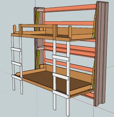 Stacked Twin Murphy Bed   Ana White
