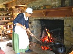 Doing some Colonial Cookin' in the Tavern. #HistoricHannasTown #Greensburg #PA #history #colonial