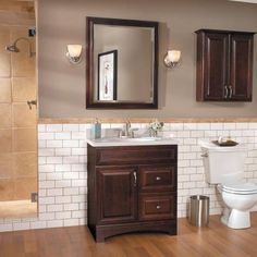 American Classics Gallery 30 in. W x 21 in. D x 33.5 in. H Vanity Cabinet Only in Java
