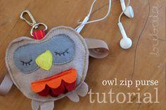 DIY: Owl Zip Purse