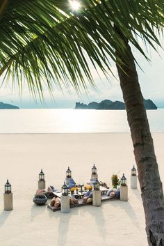 Your dinner table is set at @Four Seasons Resort Langkawi, Malaysia. No shoes necessary.